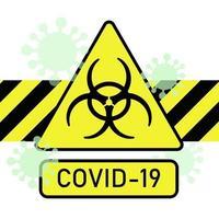 sinal de proteção biológica. a propagação do coronavírus vetor