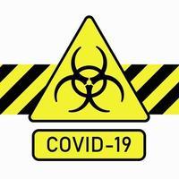 sinal de proteção biológica. a propagação do coronavírus na China vetor