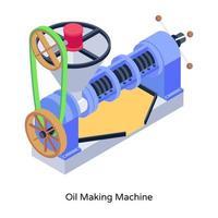 máquina de fazer óleo vetor