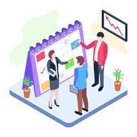 agenda e planejador de negócios vetor