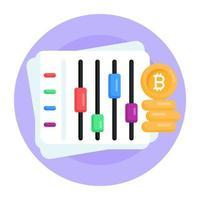 bitcoin dinheiro equalizador vetor