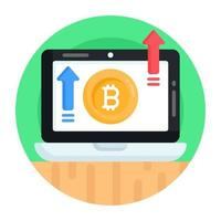 crescimento de bitcoin online vetor