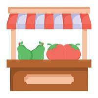 barraca de comida de vegetais vetor