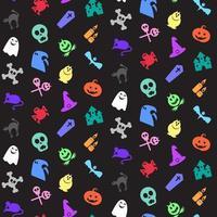 padrão sem emenda de ícones de halloween vetor