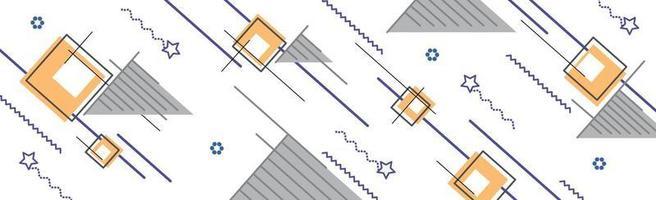 fundo abstrato com diferentes formas geométricas vetor