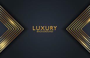 luxo elegante abstrato preto e ouro brilhante fundo geométrico vetor