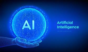ai. logotipo da inteligência artificial. inteligência artificial. vetor