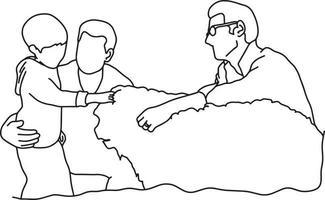 ilustração vetorial de família gay com criança e cachorro vetor