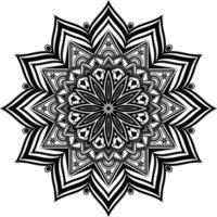 mandala preta para design, design de padrão circular de mandala vetor