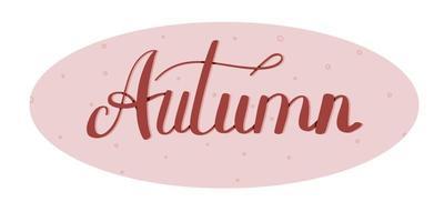 outono letras desenhadas à mão, ilustração vetorial vetor