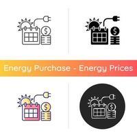 preço de energia no ícone de verão vetor