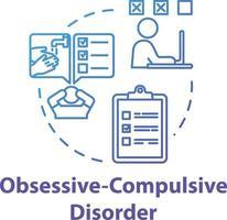 ícone do conceito de transtorno obsessivo compulsivo vetor