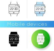 ícone de smartwatch de pulso vetor