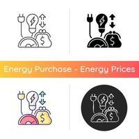 ícone do programa de eficiência energética vetor
