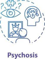 ícone do conceito de psicose vetor