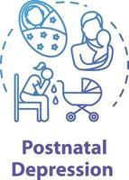 ícone do conceito de depressão pós-parto vetor