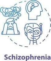 ícone do conceito de esquizofrenia vetor