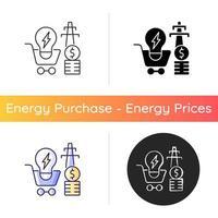 ícone de demanda de eletricidade vetor