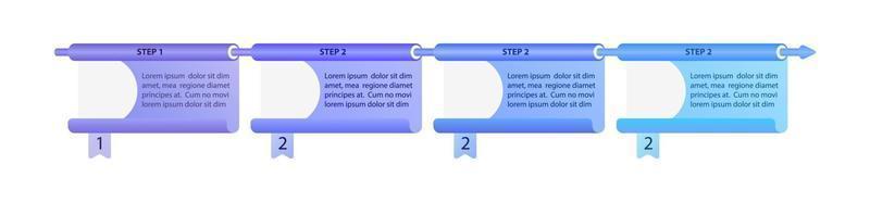 modelo de infográfico de vetor corporativo