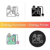 preços por ícone de localidade vetor