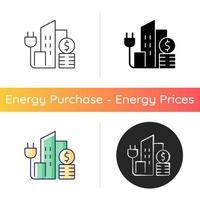 ícone de preço de energia urbana vetor
