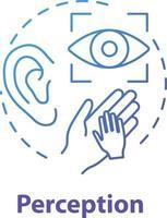 ícone do conceito de percepção vetor