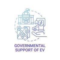 ícone do conceito de apoio governamental ev. vetor