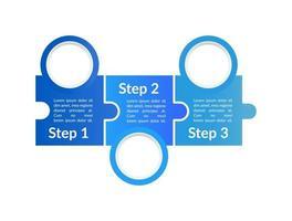 modelo de infográfico de vetor instrucional azul