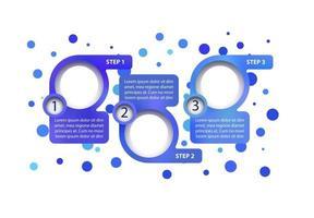 modelo de infográfico de vetor de negócios azul