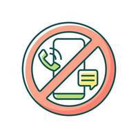 ícone de cor rgb de desintoxicação digital vetor