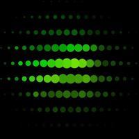 modelo de vetor verde escuro com círculos.