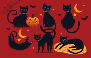 personagem gato preto vetor