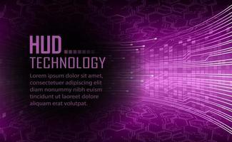 fundo de conceito de tecnologia futura de circuito de texto cibernético vetor