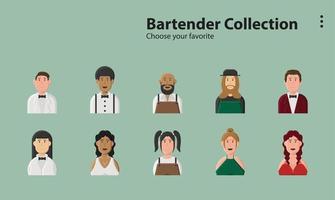 café servise restaurante bar barman coquetel alcoólico vetor