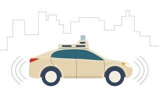 carro sem motorista, veículo autônomo vetor