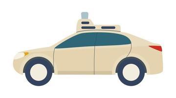 carro sem motorista, veículo autônomo, automóvel com piloto automático. vetor