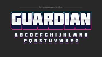 Tipografia de jogos esportivos modernos em 3D vetor