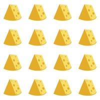 padrão sem emenda de queijo vetor