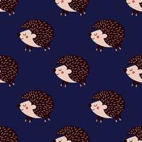 fundo com ouriços na ilustração de background.vector azul vetor