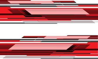 velocidade geométrica abstrata da tecnologia cinza vermelho vetor