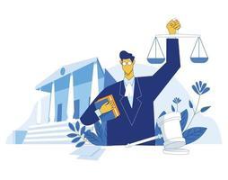 vetor de conceito de ilustração de educação de advogado