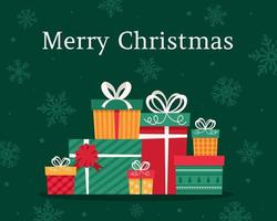 feliz Natal. presentes de Natal. caixas de presentes. vetor