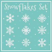 coleção de flocos de neve. elementos de inverno vetor