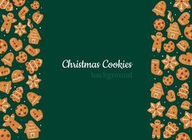 fundo de biscoitos de Natal. pão de mel vetor