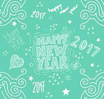 'Feliz ano novo' mão ilustrações desenhadas, vetor