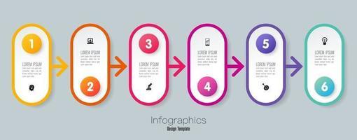 infográficos e ícones da linha do tempo vetor