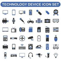 ícones de dispositivos de tecnologia digital vetor