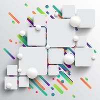 Modelo dinâmico e colorido para publicidade, ilustração vetorial