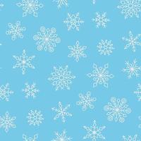 padrão sem emenda com flocos de neve de inverno. textura de neve desenhada à mão vetor