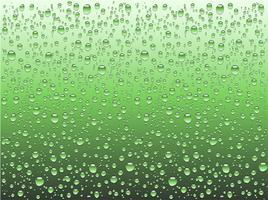 Gotas de água realista sobre um vidro liso, ilustração vetorial vetor
